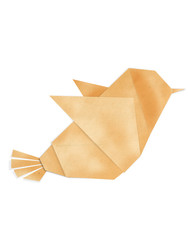 colorful origami bird made from recycle paper