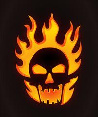 Halloween carved skull