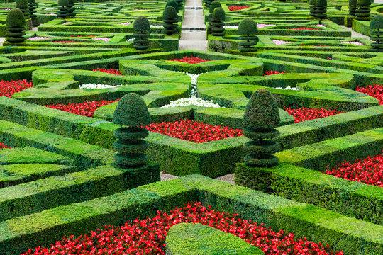 jardin français, Villandry, France