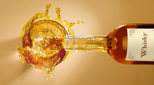 a splash of whisky
