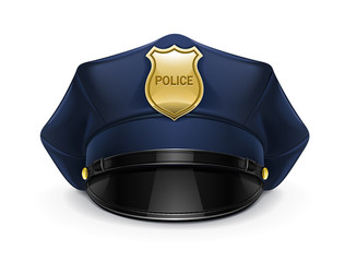 police peaked cap with cockade