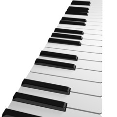 The keys of piano