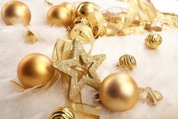 Gold Christmas balls