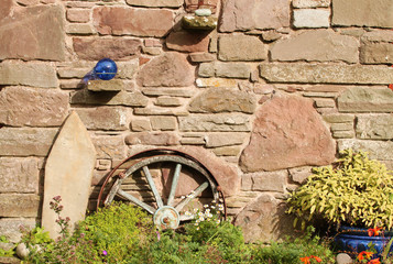 Quaint Rural Rustic Wall