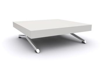 White table.