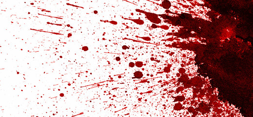 Dry blood stain