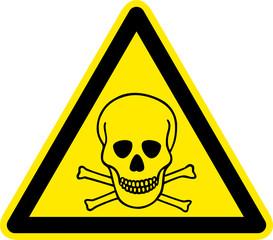 Warnschild Warnzeichen Giftige Stoffe Symbol Totenkopf