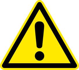 Warnschild Warnzeichen Allgemein Ausrufezeichen Gefahrenstelle