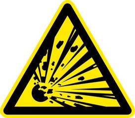 Warnschild Warnzeichen Explosionsgefährliche Stoffe