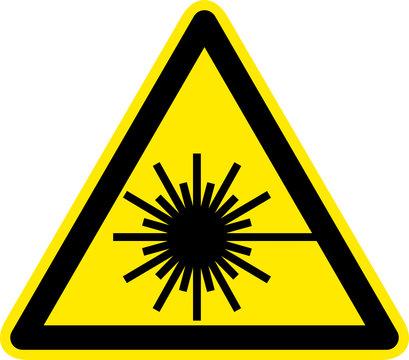 Warnschild Warnzeichen Laser Laserstrahlung Symbol
