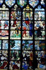 Photo sur Plexiglas Vitrail Rouen, vitraux de l'église Sainte Jeanne d'Arc