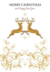 Gold reindeer decorations
