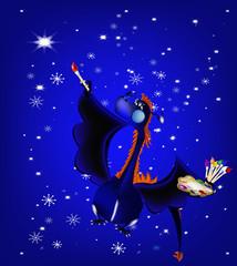 Dark blue dragon a symbol of new 2012 on east calendar