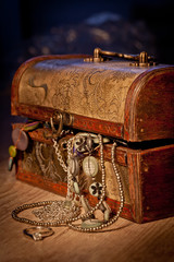 Coffer with jewels