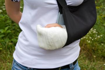 Bandaged hands