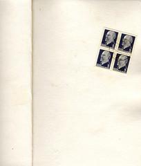 Seite mit Ulbricht Briefmarken