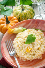 Rice with pumpkin - risotto di zucca