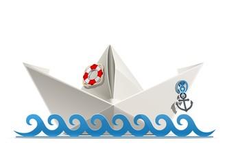 paper ship origami