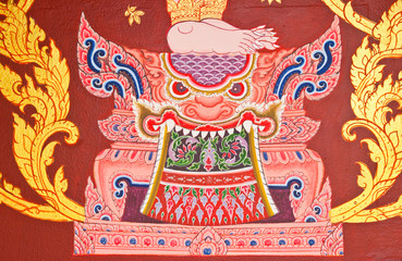 Design beautiful Thai temple gate