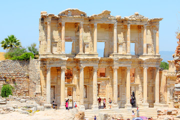 Recess Fitting Ruins Roman Library of Celsus in an antique city the Ephesus