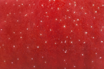 Closeup of red apple texture