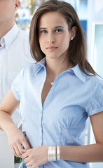 Attractive girl at office