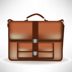 single brown business briefcase