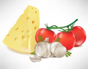 cheese tomato and garlic