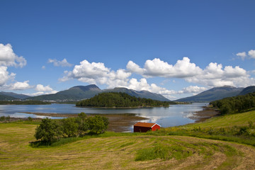 Rural lanscape of Norway