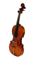 Violin, isolated on a white background