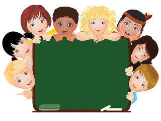 Children school banner