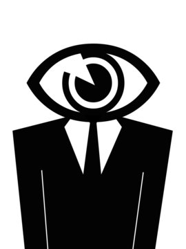 Eye man illustration.