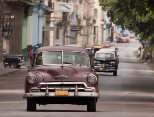 Foto op Aluminium Cubaanse oldtimers auto cuba 02