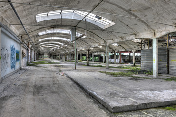 Abandoned old industrial building