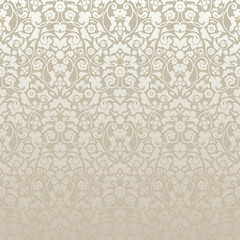 Seamless Damask Pattern Silver/Gold Wallpaper