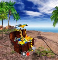 Foto op Plexiglas Piraten 3D - EGN - Treasure - Pirate