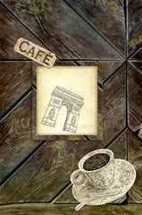 Paris cafe background