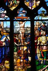 Photo sur Plexiglas Vitrail France, église de Triel Sur Seine