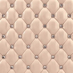 Beige upholstery with diamonds , 3d illustration