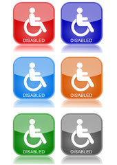 """Disabled  """"6 buttons of different colors"""""""