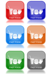 "Fast food  ""6 buttons of different colors"""