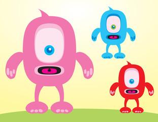 Aluminium Prints Creatures One-Eyed Monsters