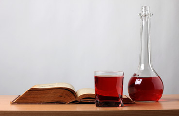 Book and bottle glass