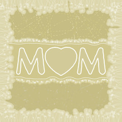Happy Mother's Day greeting card. EPS 8