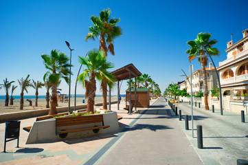 General street view in Costa Blanca, Alicante, Spain