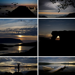 Skandinavien am Abend (Collage)