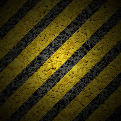 Background with hazard stripes.