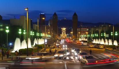 Barcelona in night