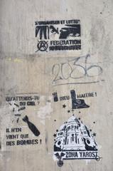 Graffiti on the butte