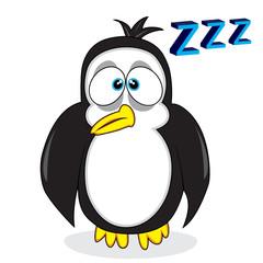 cute sleepy looking penguin